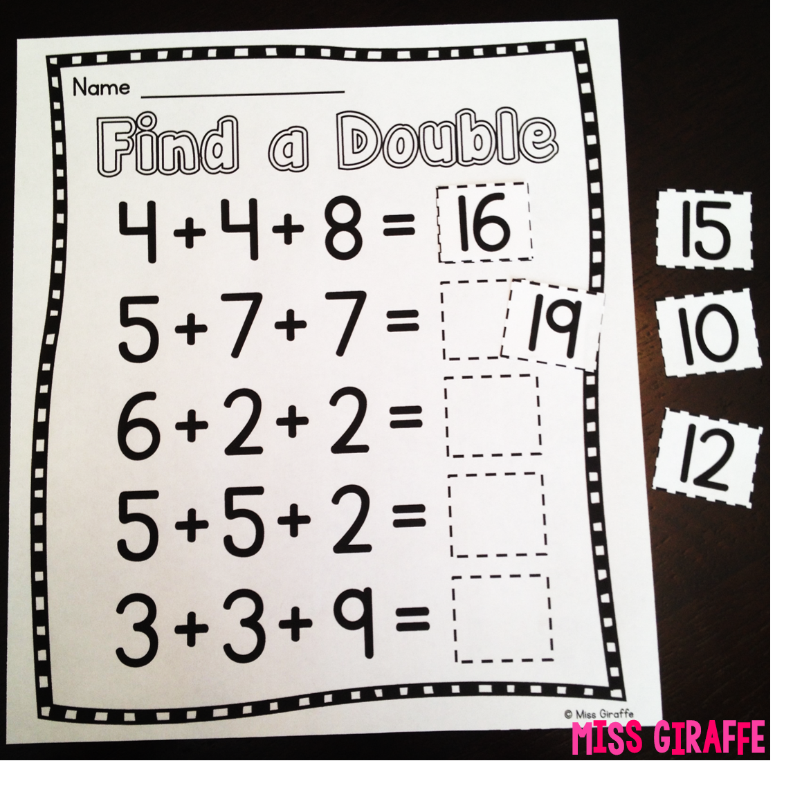 medium resolution of Miss Giraffe's Class: Adding 3 Numbers
