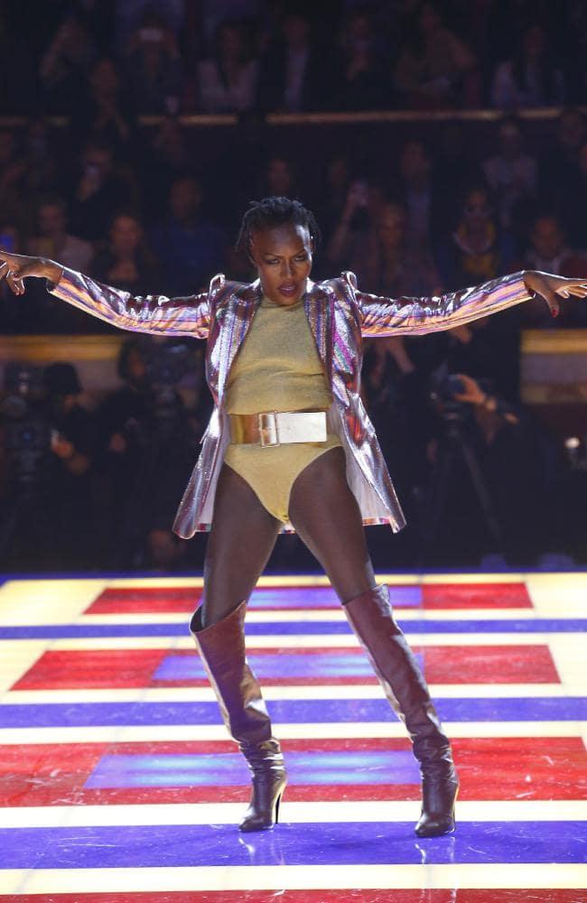 Singer Grace Jones, 70, Defies Age In Bodysuit Showcasing Toned Figure At Tommy x Zendaya Show