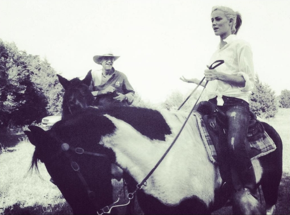 Amber Heard horse riding
