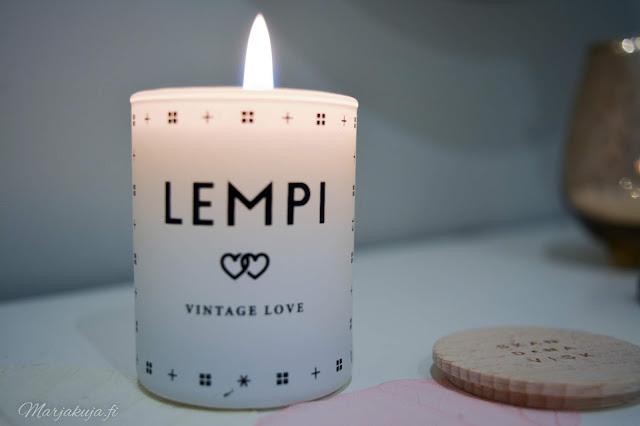 Skandnavisk Lempi vintage love mini tuoksukynttilä,