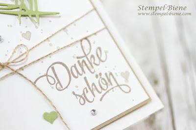 Danksagungskarten Hochzeit, Dankeskarten Hochzeit; Stampin' Up Gorgeous Grunge, Stampinup Hochzeitskarte; Stampinup Hochzeitsworkshop, Stempel-biene, gorgeous Grunge; stampinup von großer bedeutung