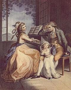 Cuadro Inspirado en la opera Yo dolori del giovane Werther, de Goethe