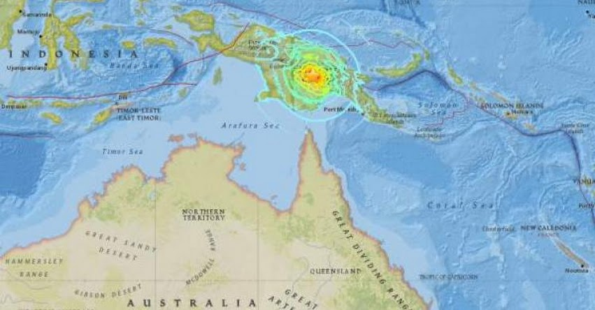 TERREMOTO EN PAPÚA NUEVA GUINEA de Magnitud 6.7 - Alerta de Tsunami (Hoy Miércoles 07 Marzo 2018) Sismo Temblor EPICENTRO - Porgera - USGS