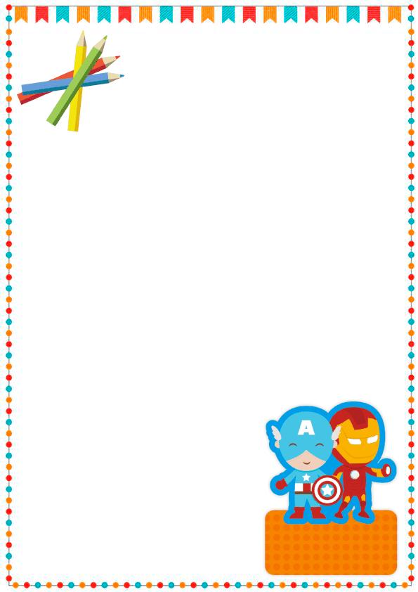 caratulas para cuadernos para niños y niñas de primaria de iron man