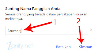 Cara Mengganti Nama Sendiri di Chat Facebook