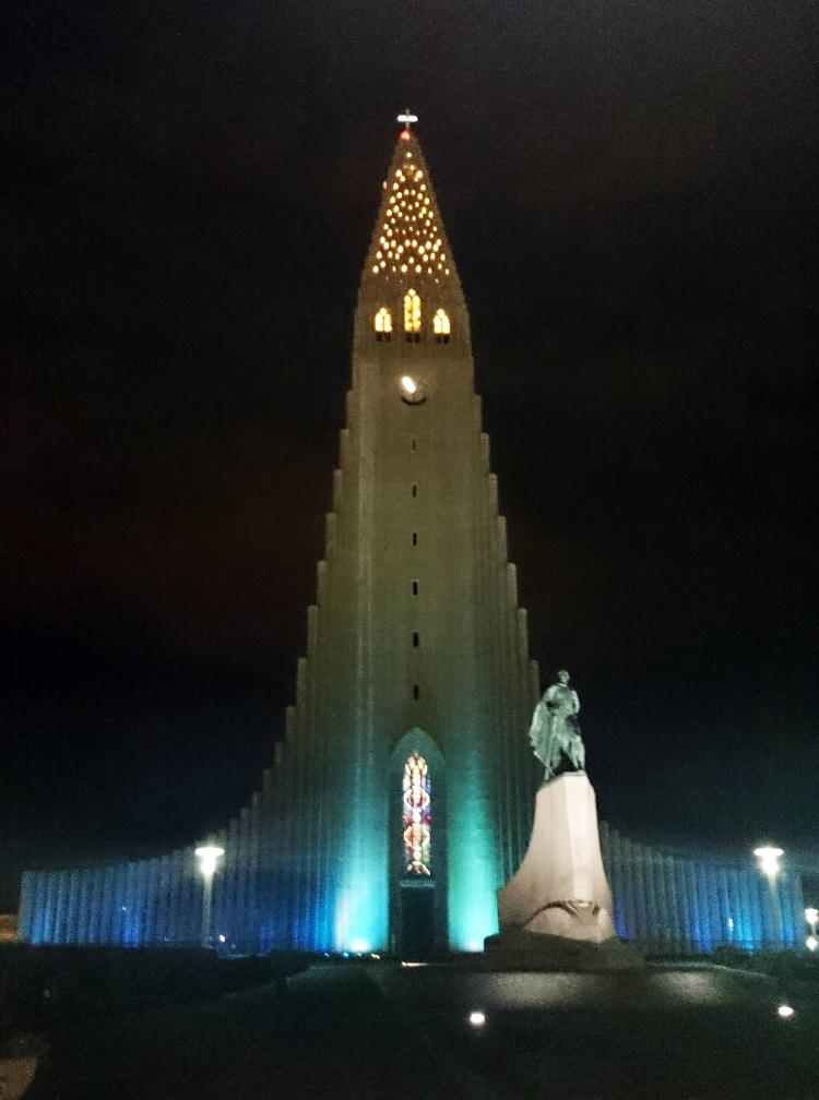 church at night, Reykjavik, Iceland, Euriental
