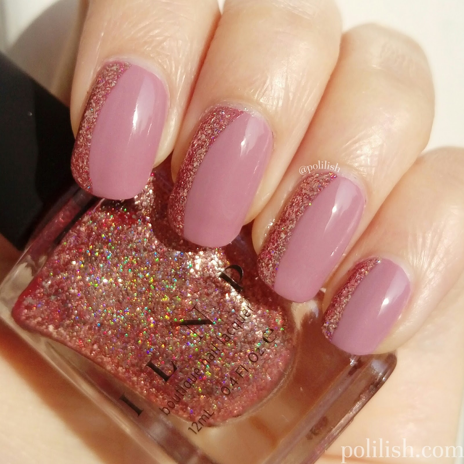 Ilnp Juliette Holographic Nail Polish Rose Gold Papillon Day Spa