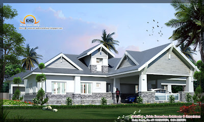 557 square meter (6000 Square Feet) house elevation - October 2011