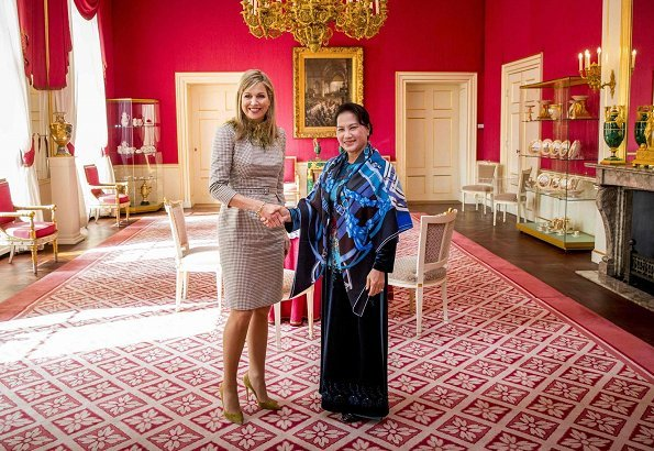 Dutch Queen Maxima receives the chairwoman of the National Assembly of Vietnam, Nguyen Thi Kim Ngan