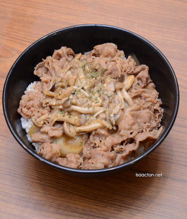 Mushroom Gyudon (RM9.40 small ; RM11.40 medium ; RM13.40 large)