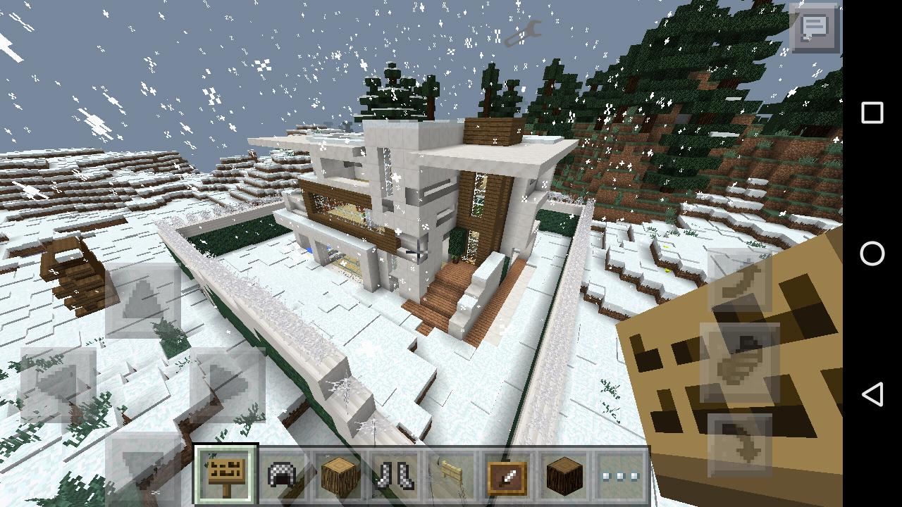mapa modern redstone house minecraft pe