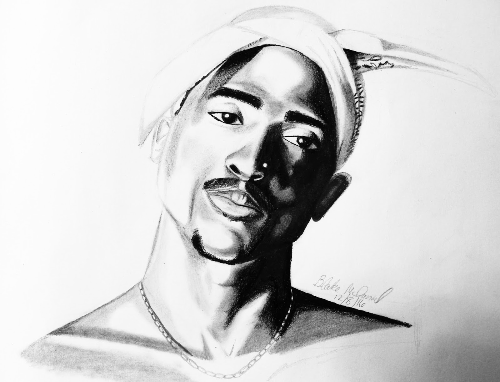 The Life of ART: Drawing of Tupac