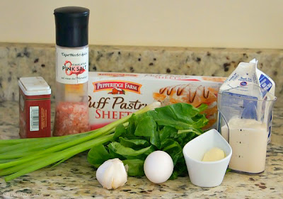puff pastry with spinach and scallions in alfredo sauce ingredients