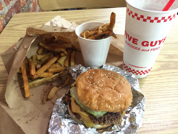 hamburguesas en Nueva York five guys