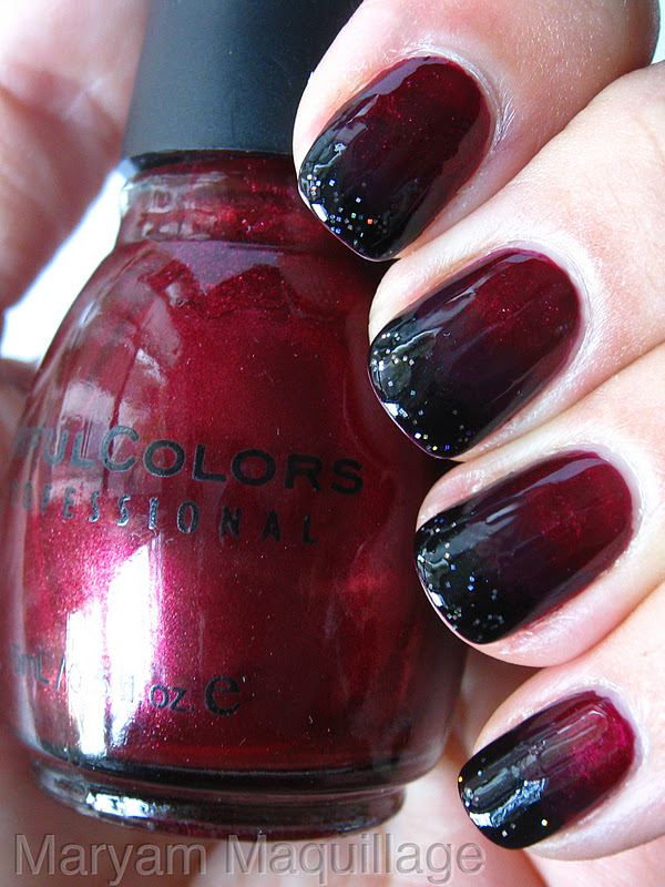 Maryam Maquillage: Black Blood Ombre Nails