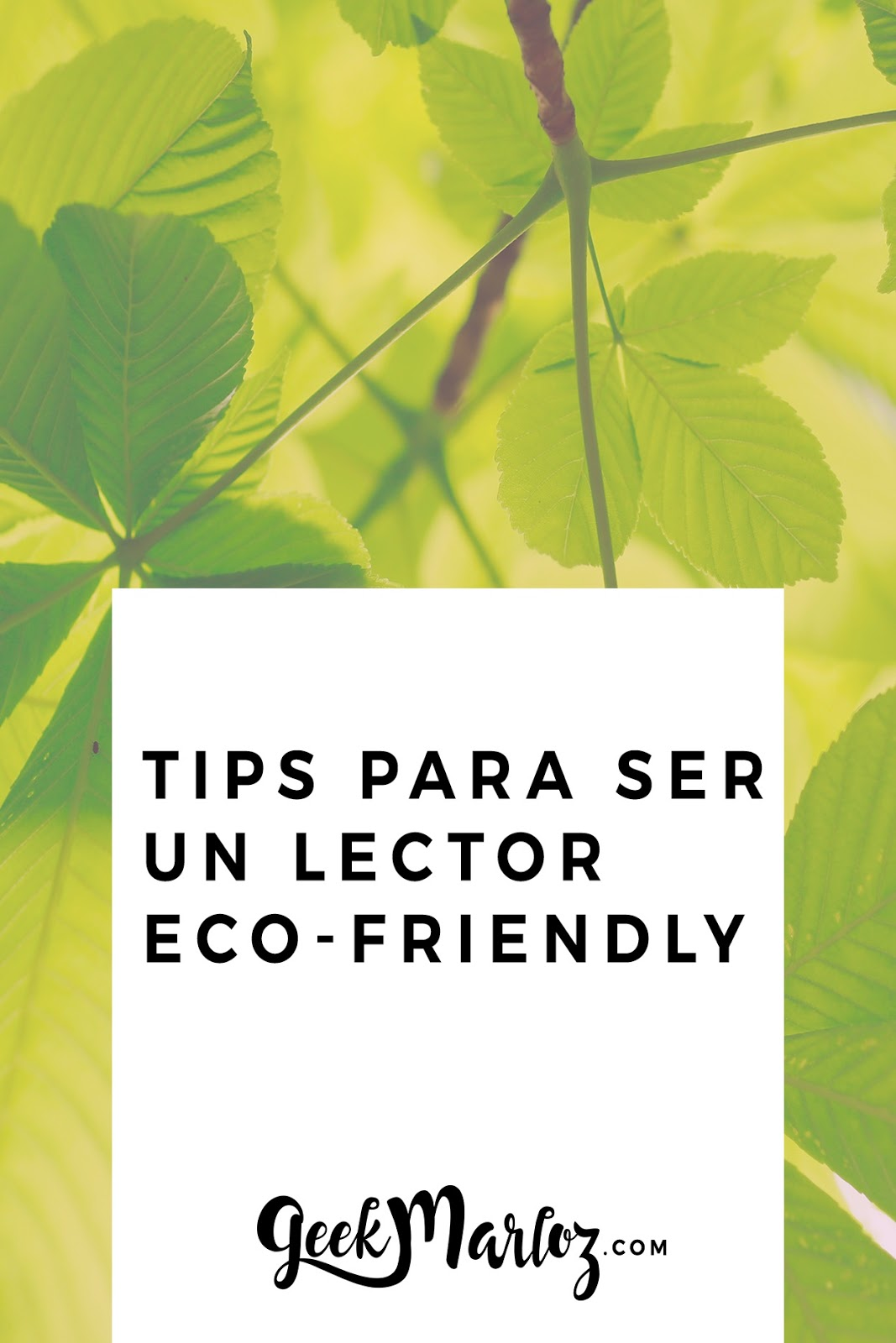 Tips para ser un lector eco-friendly