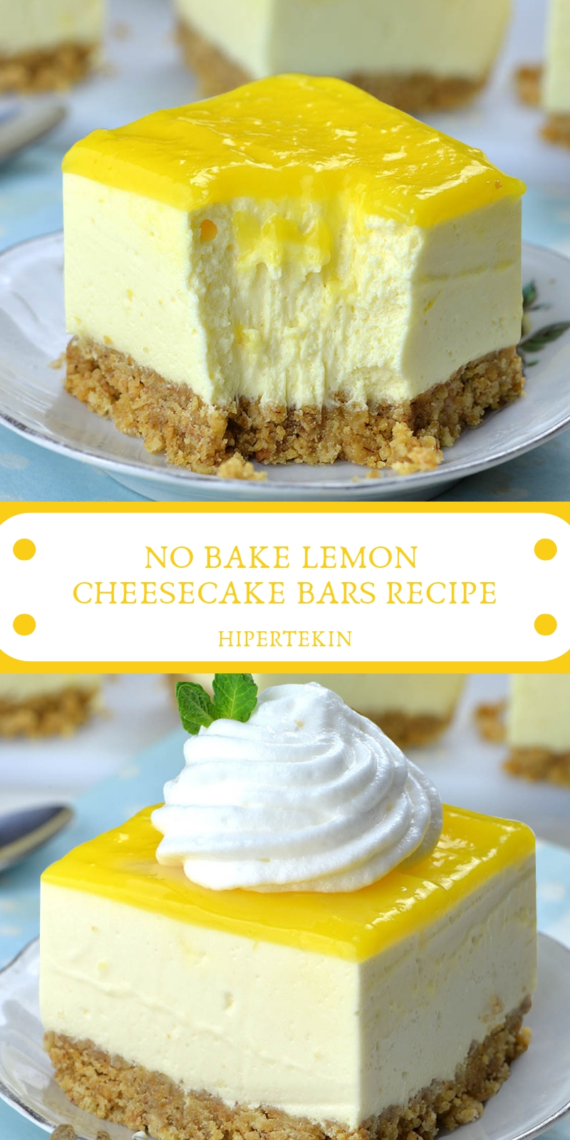 NO BAKE LEMON CHEESECAKE BARS RECIPE