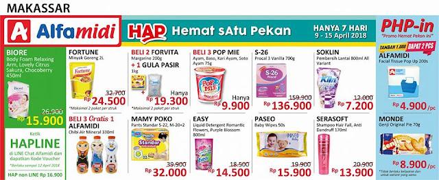 Katalog Promo ALFAMIDI Hemat Satu Pekan Periode 09 - 15 April 2018