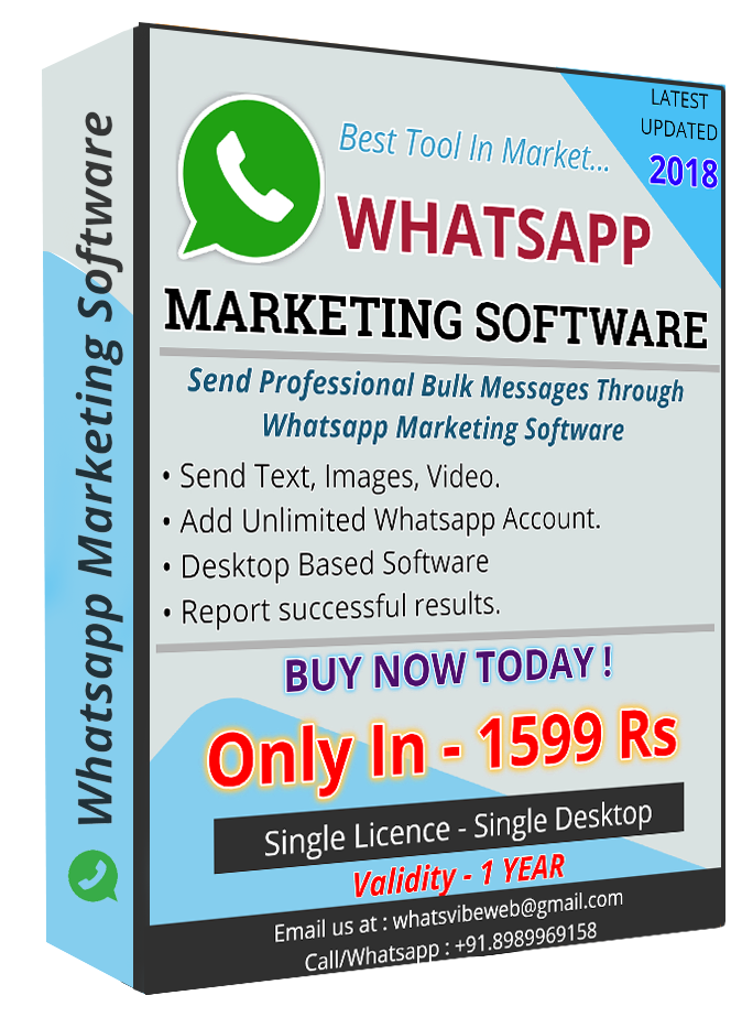Get Whatsapp marketing Software @Best Price