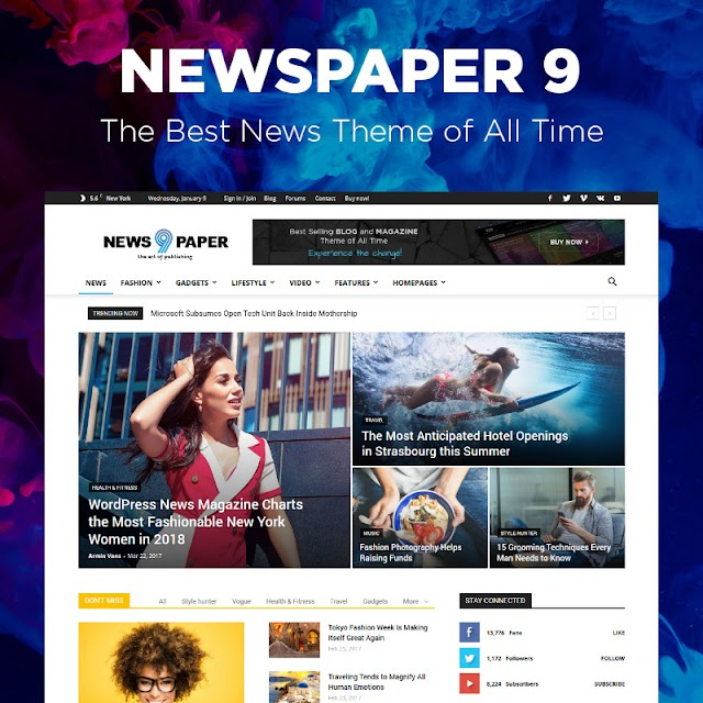 NewsPaper v9.7.1 WordPress Theme premium – Free Download