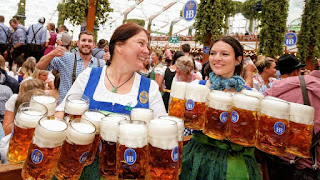Oktoberfest; world largest beer festival and travelling funfair.