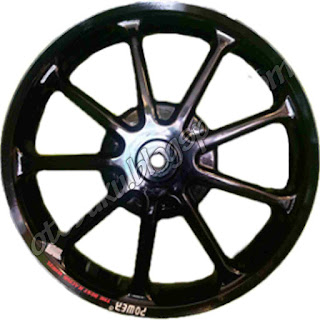 Photo Velg Power Racing Warna Hitam
