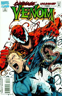 Venom: Carnage Unleashed #3 Issue Three Eddie Brock Symbiote Larry Hama Andrew Wildman Art Nichols Venom vs. Carnage versus miniseries Marvel Cover comic book