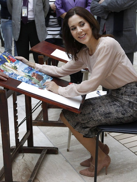 Princess Mary attended the opening ceremony of the Wild Swan exhibition at the State Hermitage museum