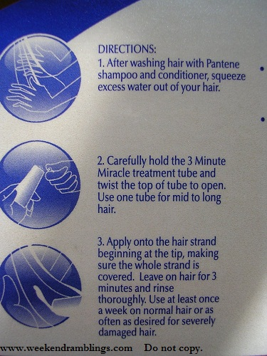 Pantene 3-Minute Miracle Treatment - How to Use