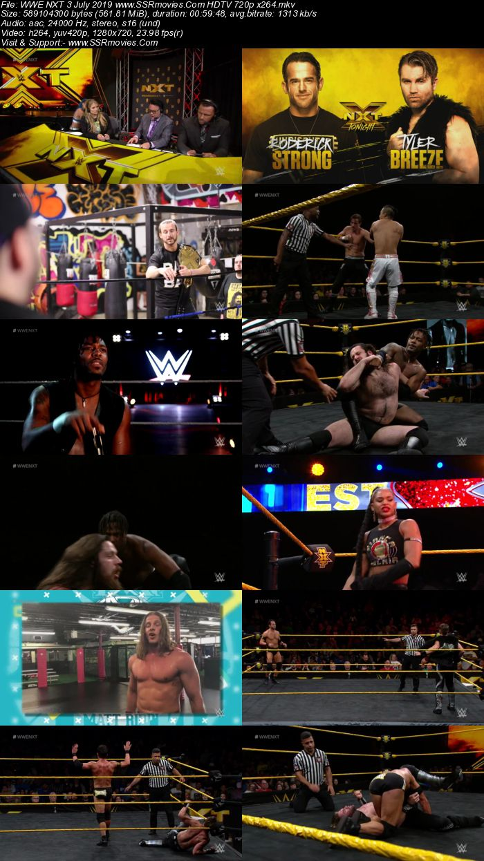 WWE NXT 3 July 2019 HDTV 480p 720p Full Show Download HD