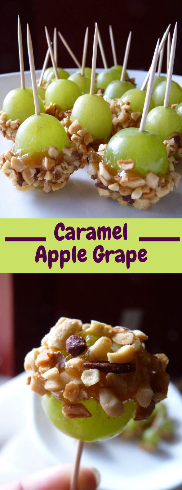Caramel Apple Grapes #Snack #Dessert