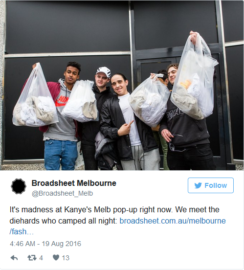 Kanye West Pop Up Store Lines