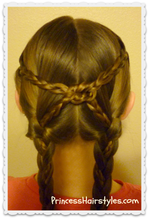 Pigtail Braids Knotted Hairstyle