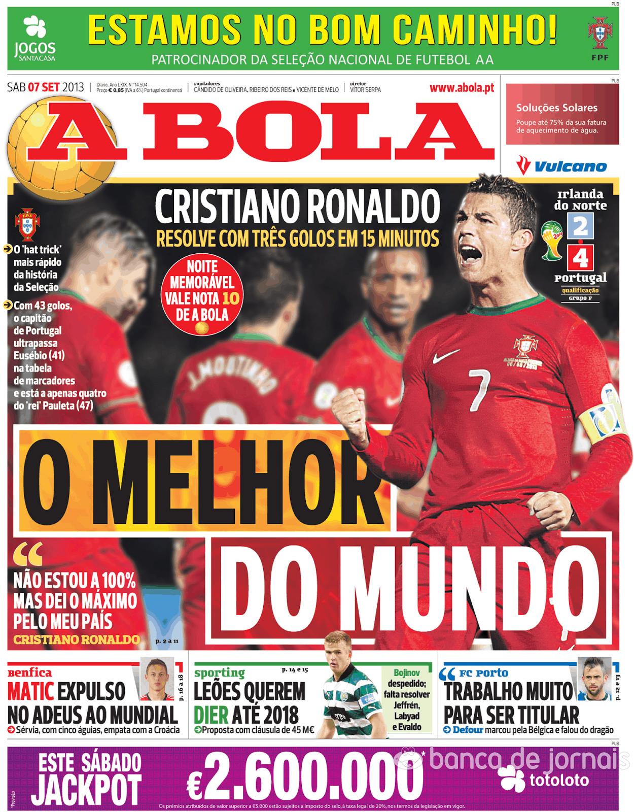 Lusosports Capas Dos Jornais Desportivos Hoje