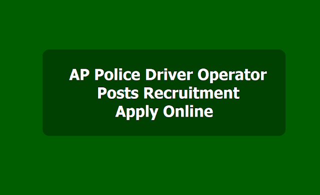 AP Police Driver Operator Posts