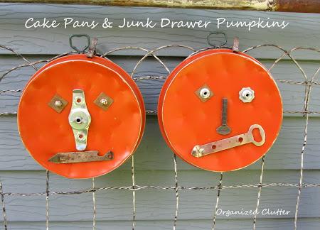 Thrift Shop Cake Pan & Junk Drawer Pumpkins