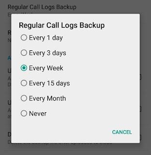 Regular backup schedule
