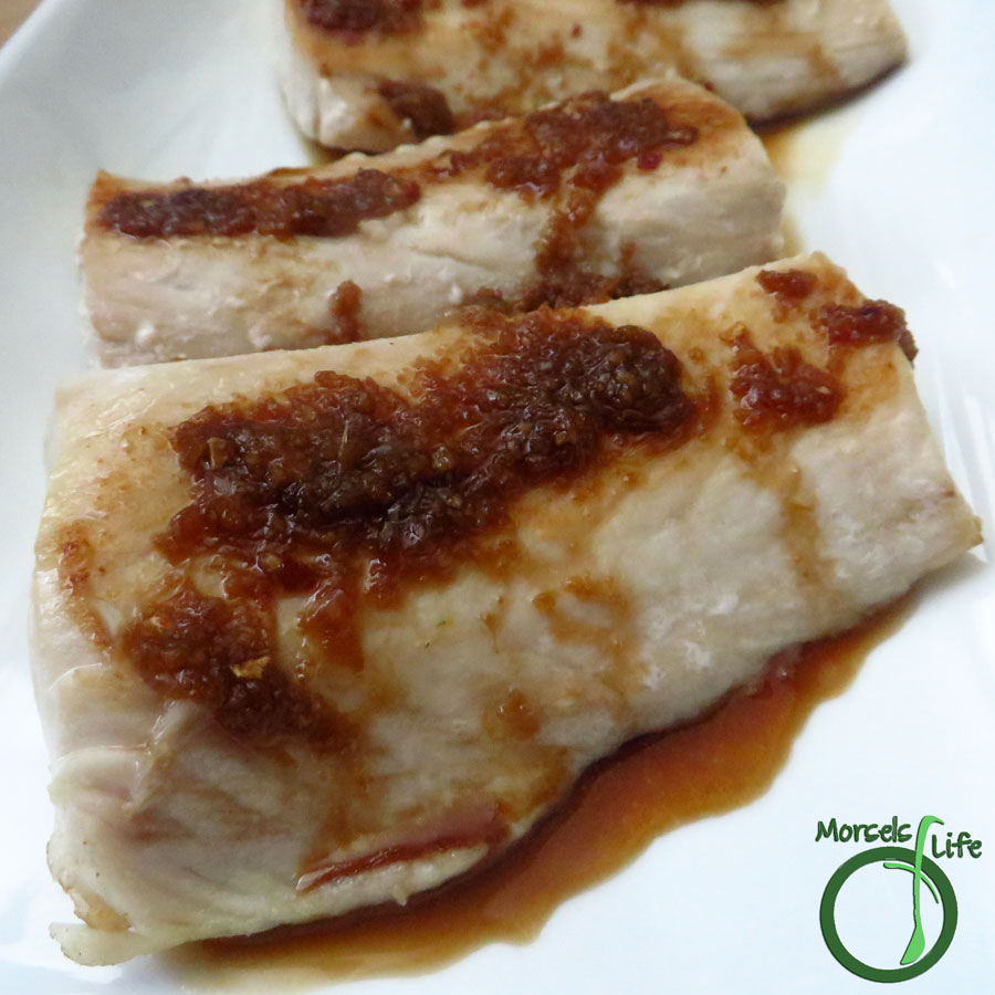 Morsels of Life - Ginger Glazed Mahi Mahi - Try this ginger glazed mahi mahi - pan seared fish drizzled with a sweetly spicy ginger soy sauce!