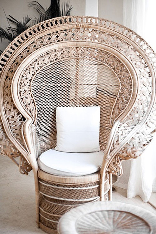 spicer bank by allison egan iconic pieces peacock wicker chair. Black Bedroom Furniture Sets. Home Design Ideas