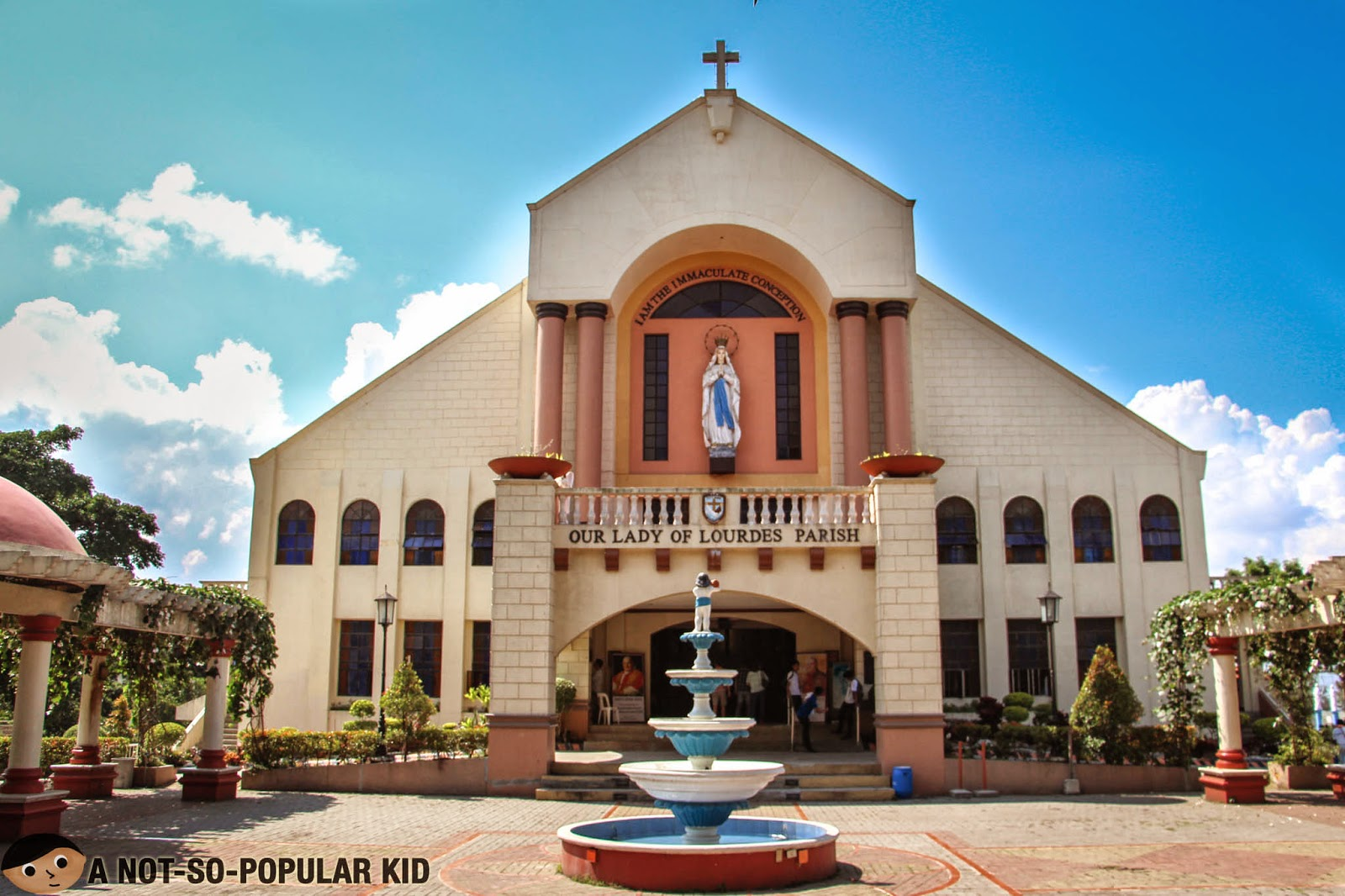 The beautiful church of Our Lady of Lourdes in Tagaytay City