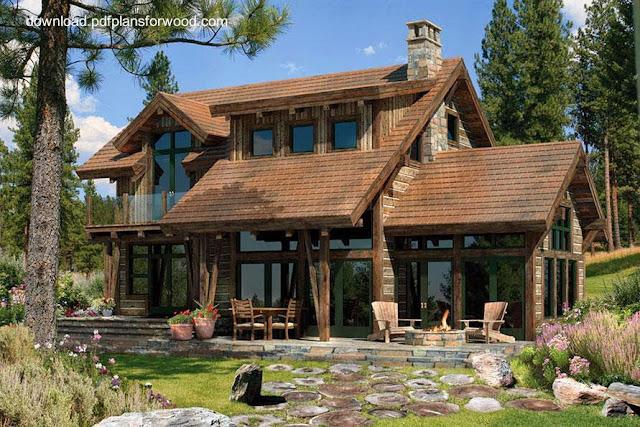 Casa cabaña de madera