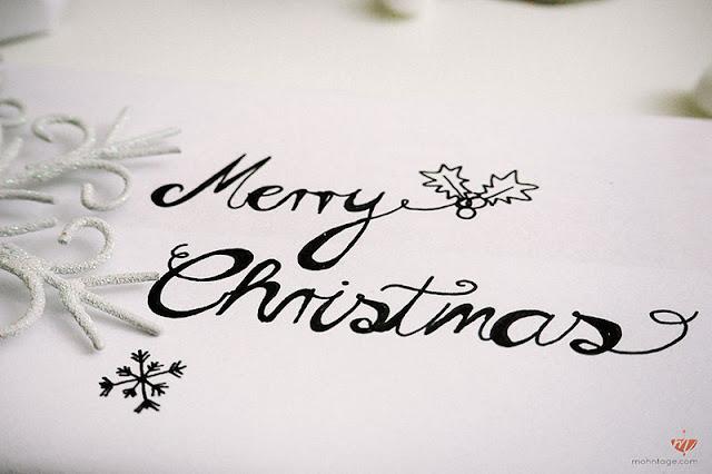 Handlettering Weihnachten