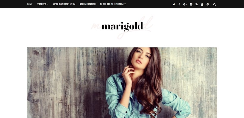 Marigold Free Blogger Template
