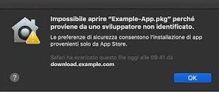 Errore App