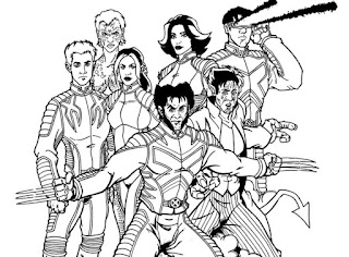 Xmen And Friend Coloring Pages