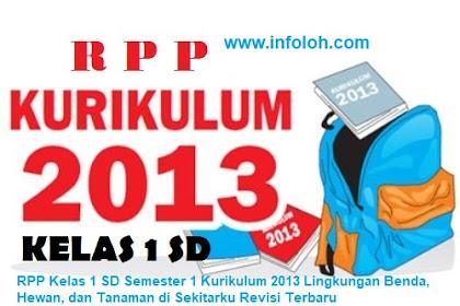 RPP Kelas 1 SD Semester 2 Kurikulum 2013 Benda, Hewan, dan Tanaman di Sekitarku Revisi Terbaru