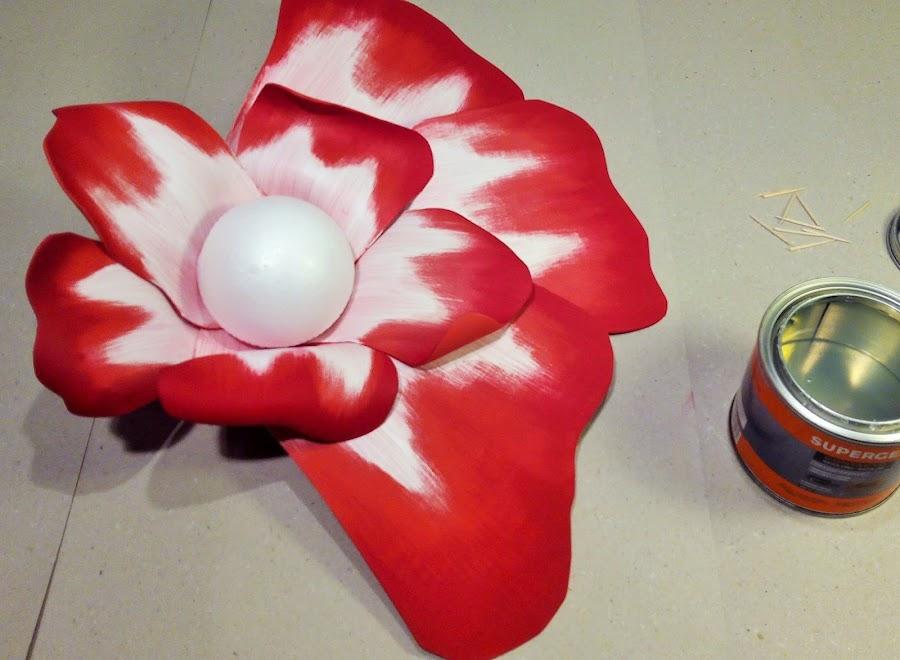 como hacer una flor en foami