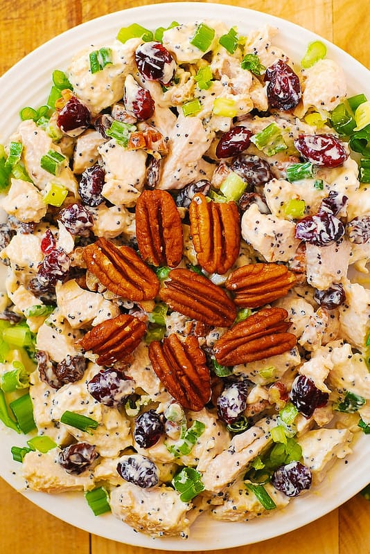 CRANBERRY PECAN CHICKEN SALAD WITH POPPY SEED DRESSING RECIPE