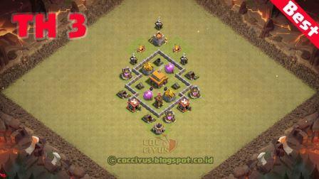 Susunan formasi coc th 3 war base layout