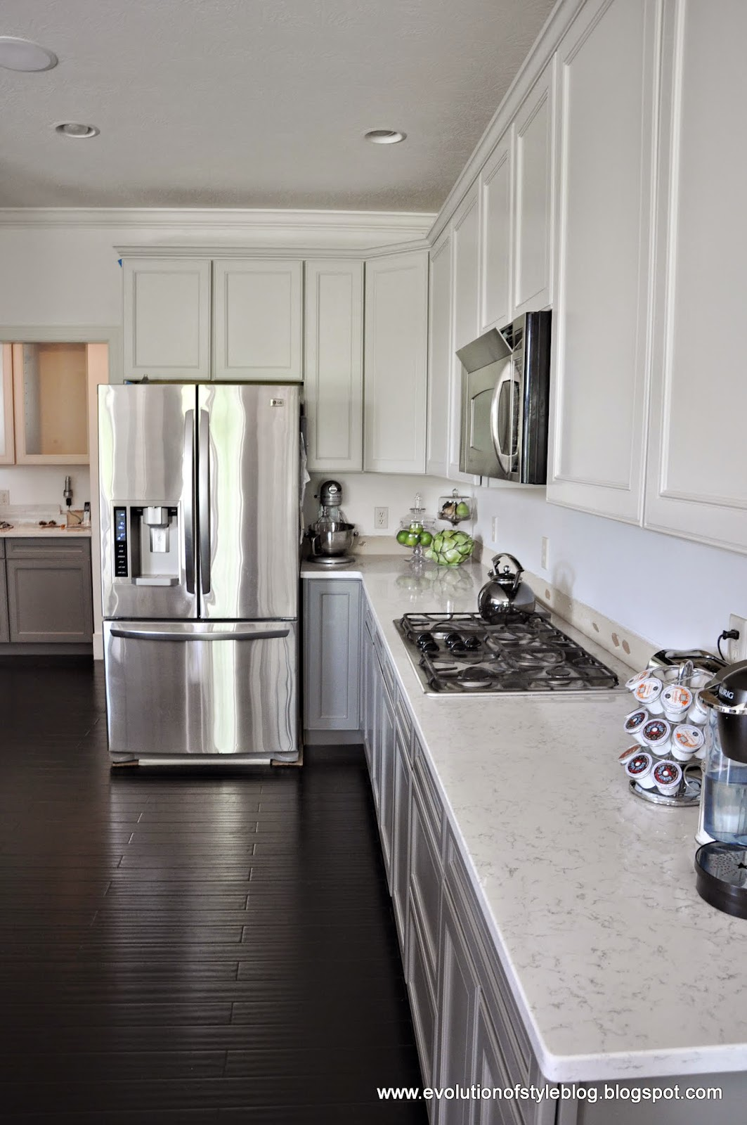 Painted Cabinets In Repose Gray And Gauntlet Gray Evolution Of Style